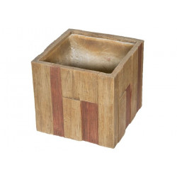 Kvetináč G21 Wood Cube 44x44x41cm