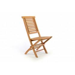 Skladacia záhradná stolička DIVERO Hantown - teakové drevo