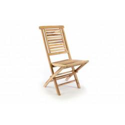 """Záhradná stolička skladacia DIVERO """"Hantown"""" z masívneho teakového dreva"""