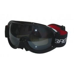 Lyžiarske okuliare pre dospelých - dvojsklo - čierne