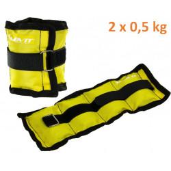 MOVIT záťažové manžety, 2 x 0,5 kg žltá