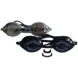 Silikónové plavecké okuliare RACER - so zrkadlovkou