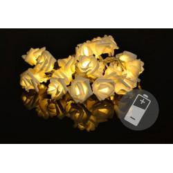 Dekoračné LED osvetlenie - ruže - 20 LED, teplá biela