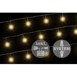 diLED rozšíriteľný svetelná reťaz - 40 diód, 3 m + TRAFO