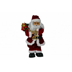 Vianočné dekorácie - tancujúci a spievajúci Santa Claus