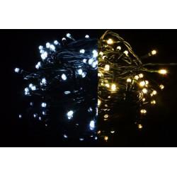 Vianočná svetelná reťaz 100 LED - 9 blikajúcich funkcií - 9,9 m