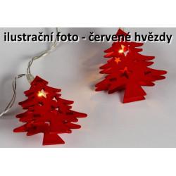 Vianočná dekoratívna reťaz HOLZ - červená hviezda - 10 LED