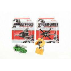 Transformer Robot plast 8cm asst 4 druhy na kartě