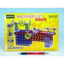 Stavebnice MERKUR Machinery set Basic 10 modelů v krabici 25,5x18x2cm