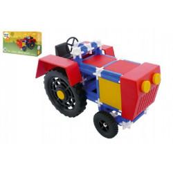 Stavebnice Seva Traktor plast 115ks v krabici 31,5x16,5x7,5cm
