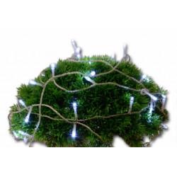 Vianočné LED osvetlenie 10 m s časovým spínačom - studená biela, 100 diód