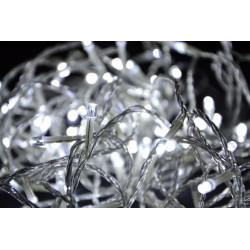 Vianočné LED osvetlenie Garth 9 m - studená biela, 100 diód