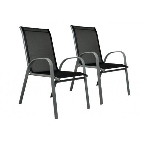 8bff577ffc1a Sada 2 x záhradná stolička stohovateľná s vysokým operadlom-D29330