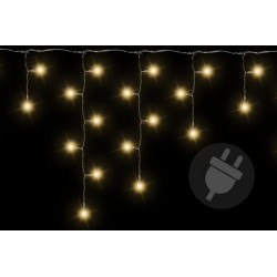 Vianočný svetelný dážď 400 LED teplá biela - 7,8 m