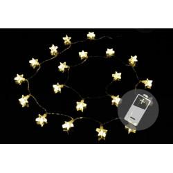Vianočné osvetlenie - hviezda - teplá biela