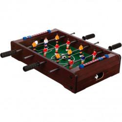 Mini stolný futbal 51 x 31 x 8 cm - tmavý