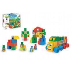 Kostky stavebnice Middle Blocks plast 33ks v krabici 30x25x12cm Wader